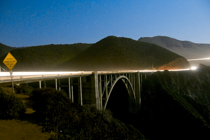 Bixby Bridge After Dark